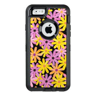 Gerbera flowers pattern, background OtterBox defender iPhone case