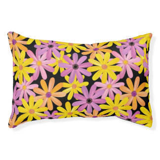 Gerbera flowers pattern, background pet bed