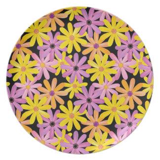 Gerbera flowers pattern, background plate