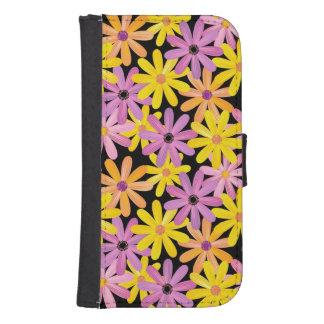 Gerbera flowers pattern, background samsung s4 wallet case