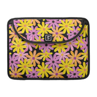 Gerbera flowers pattern, background sleeve for MacBooks