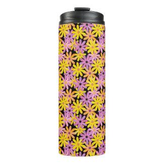 Gerbera flowers pattern, background thermal tumbler