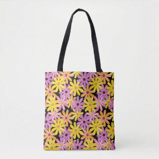 Gerbera flowers pattern, background tote bag