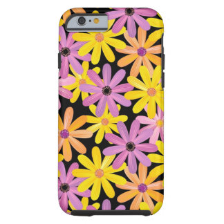 Gerbera flowers pattern, background tough iPhone 6 case