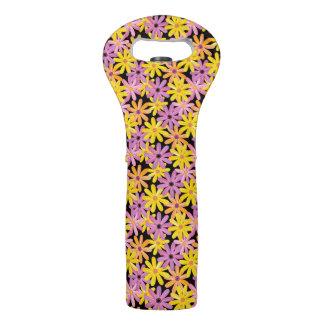 Gerbera flowers pattern, background wine bag