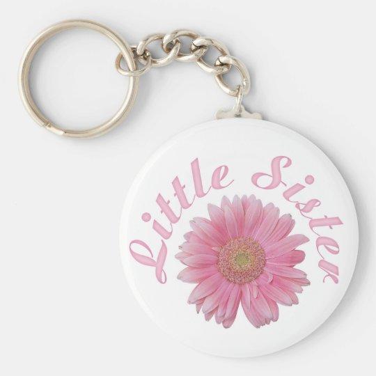 Gerbera Little Sister Basic Round Button Key Ring