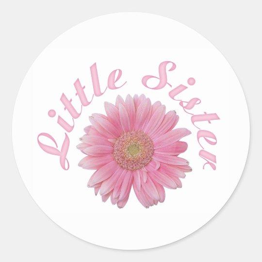Gerbera Little Sister Classic Round Sticker