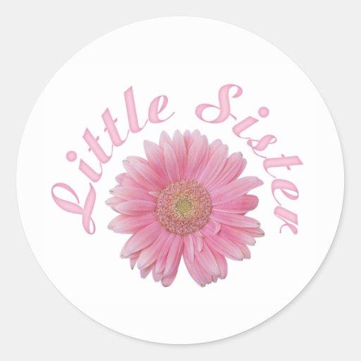 Gerbera Little Sister Round Sticker