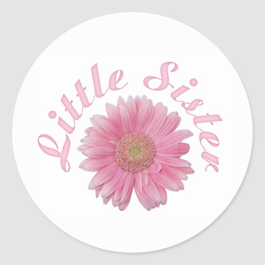 Gerbera Little Sister Round Sticker