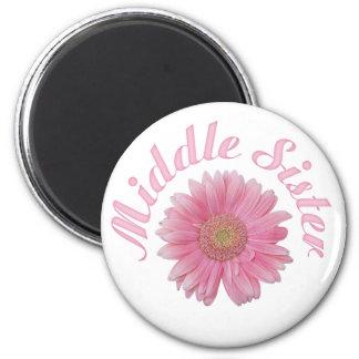 Gerbera Middle Sister Fridge Magnet