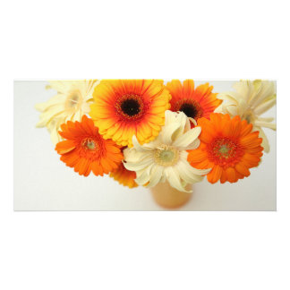 Gerbera photo cards. personalized photo card