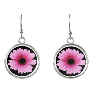 Gerbera Pink - Daisy Earrings