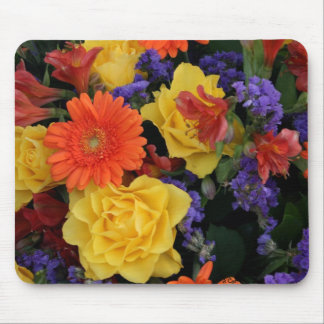 Gerbera Rose Bouquet Mouse Mat