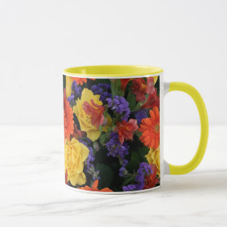 Gerbera Rose Bouquet Mug
