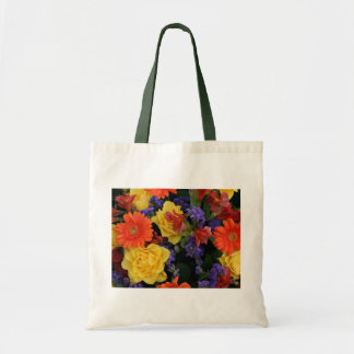 Gerbera Rose Bouquet Tote Bag