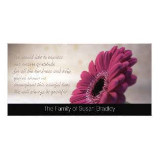 Gerbera Sympathy Thank You Photo Card 2