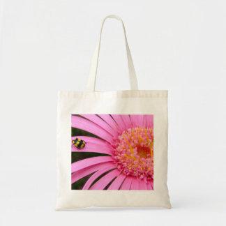Gerbera with Ladybug Tote Bag