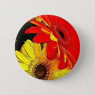 Gerberas 6 Cm Round Badge