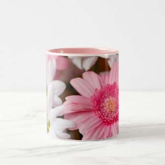 Gerberas And Chrysanthemums Two-Tone Coffee Mug