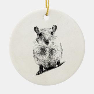 Gerbil Animal Baby Illustration Pet Gerbils Christmas Ornament