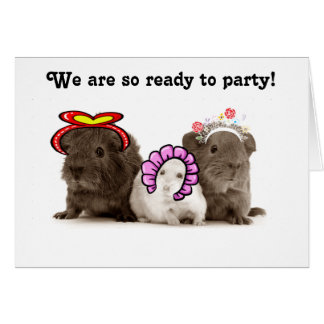 GERBILS ARE SO READY TO PARTY-GROUP BIRTHDAY CARD