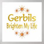 Gerbils Brighten My Life Poster