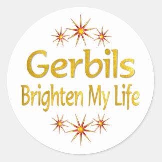 Gerbils Brighten My Life Stickers