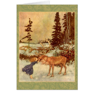 Gerda and the Reindeer Card