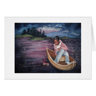 Gerda in the Boat, greeting card