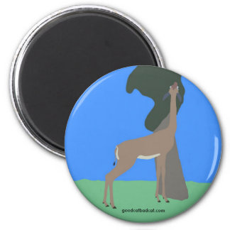Gerenuk Eating Out of Tree Magnet