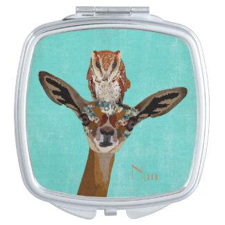 GERENUK & OWL Compact Mirror