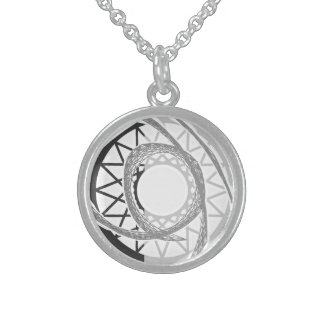 Gerey sun sterling silver necklace