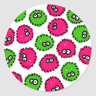 Germ Invasion Classic Round Sticker