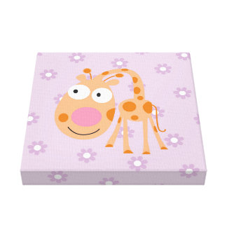 germain_the giraffe canvas prints