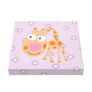 germain_the giraffe canvas prints