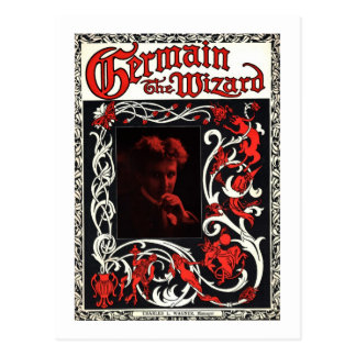 Germain the Wizard Vintage Magician Advertisement Post Card