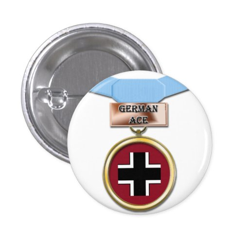 German Ace medal button