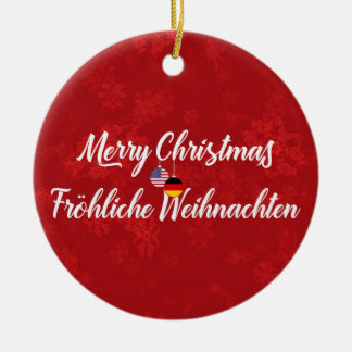 German American Bilingual Holiday Decoration