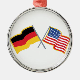 German American Flags Christmas Ornament
