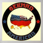 German American Flags Poster