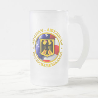 German-American Pride Frosted Glass Mug