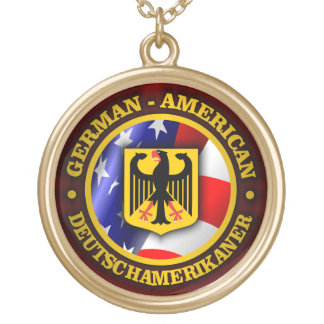 German-American Pride Gold Plated Necklace