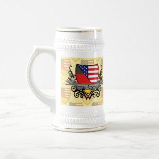 German-American Shield Flag Beer Steins