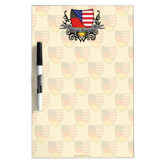 German-American Shield Flag Dry Erase Board