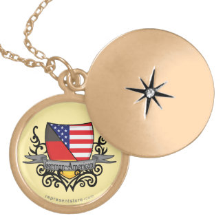 German-American Shield Flag Lockets