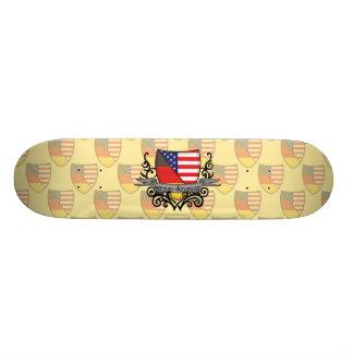 German-American Shield Flag 18.1 Cm Old School Skateboard Deck