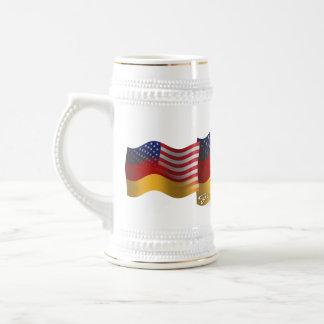 German-American Waving Flag Beer Steins