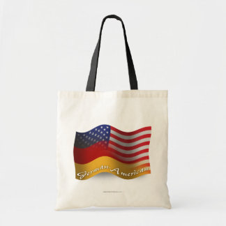 German-American Waving Flag Budget Tote Bag