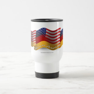 German-American Waving Flag Stainless Steel Travel Mug
