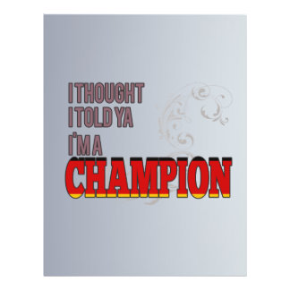 German and a Champion Flyer Design
